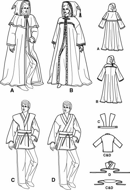 Simplicity 5840 Discontinued 2002 Sewing Pattern Star Wars Jedi Luke ...